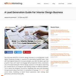 A Lead Generation Guide For Interior Design Business