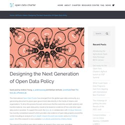 Designing the Next Generation of Open Data Policy - International Open Data Charter