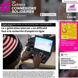 La génération internet et recherche d'emploi en ligne
