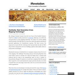 Geofeedia: Next Generation Crisis Mapping Technology?
