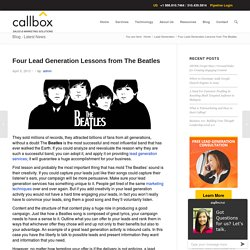 Four Lead Generation Lessons from The Beatles - Malaysia B2B Lead Generation