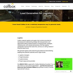 Lead Generation for Logistics Industry