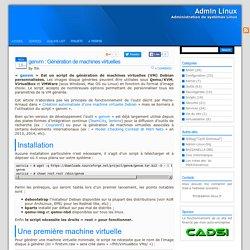 Admin Linux » Blog Archive » genvm : Génération de machines virtuelles