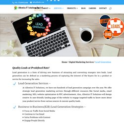 Online Lead generation and lead management Services Company in Pune India:Allentics