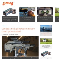 Canada's next-generation military smart gun unveiled