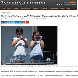 Marketing To Generation Z: Millennials Move Aside As Brands Shift Focus To Under-18 Customers