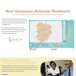 Next-Generation Molecular Workbench