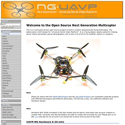 FrontPage - UAVP-NG - The Next Generation multicopter-Mozilla Firefox