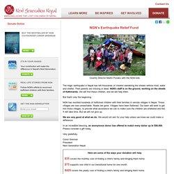 Next Generation Nepal - Donate Online
