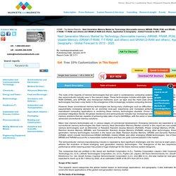 Next Generation Memory Market by Technology (Nonvolatile memory (MRAM, FRAM)