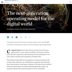 The next-generation operating model for the digital world