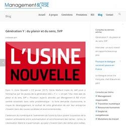 Génération Y : du plaisir et du sens, SVP - Management & RSE