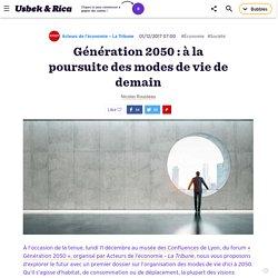 Génération 2050 : à la poursuite des modes de vie de demain