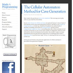 The Cellular Automaton Method for Cave Generation
