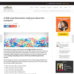 Is B2B Lead Generation really just about the numbers?