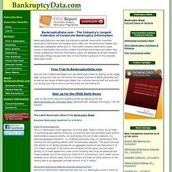 New Generation Research - Experts in Bankruptcy Research