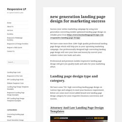 new generation landing page design for marketing success
