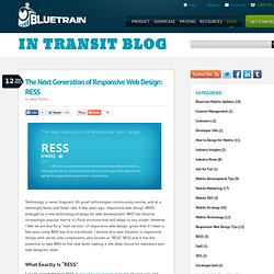 The Next Generation of Responsive Web Design: RESS | In Transit