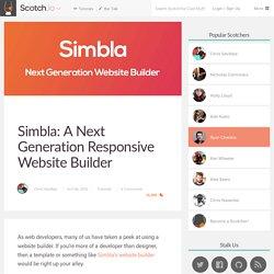 Simbla: A Next Generation Responsive Website Builder