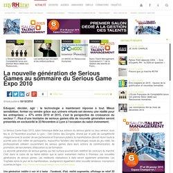 La nouvelle génération de Serious Games au sommaire du Serious Game Expo 2010