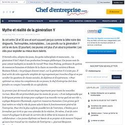 Mythe et réalité de la génération Y - LES CLES DE LA REUSSITE - RESSOURCES HUMAINES