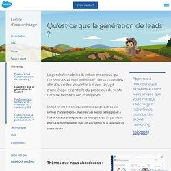 Qu'est-ce que la génération de leads? - Salesforce France