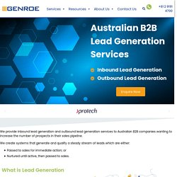 B2B Lead Generation Services Australia: Inbound and Outbound