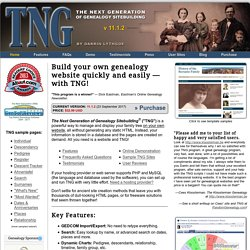 "The Next Generation of Genealogy Sitebuilding (""TNG"")"