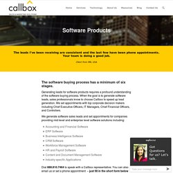 Software Products - callbox.com.sg - B2B Lead Generation and Appointment Setting