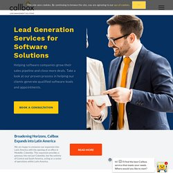 Lead Generation for Software Products - Software Sales Leads - Callbox