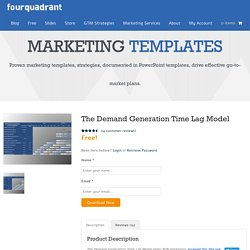 The Demand Generation Time Lag Model - Marketing Strategies That Drive Go-to-Market Plans