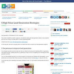 5 High Value Lead Generation Strategies