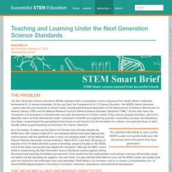 Enseñanza y aprendizaje según los estándares científicos de la próxima generación