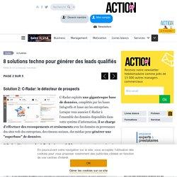 Génération de leads qualifiés: 8 solutions technologiques