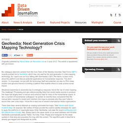 Geofeedia: Next Generation Crisis Mapping Technology?