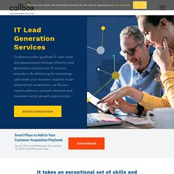 IT Lead Generation - Technology Sales Leads - Callbox