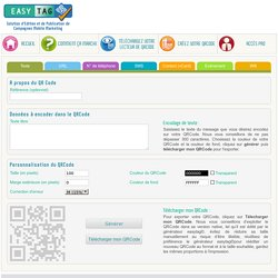 Easy Tag - Génération et téléchargement de VCard avec QR Code