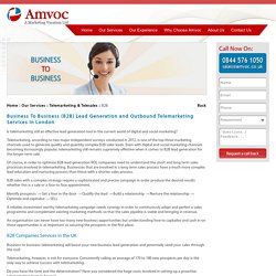 B2B Lead Generation, Outbound B2B Telemarketing Companies in London, UK - Amvoc Ltd.