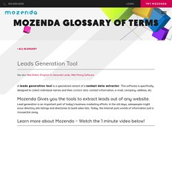 #1 Mozena Leads Generation Tool Trusted by Enterprise
