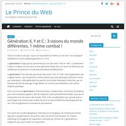 Génération X, Y et C : 3 visions du monde différentes, 1 même combat ! – Le Prince du Web