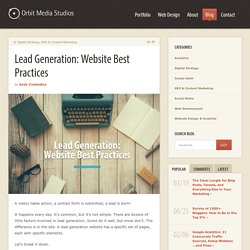 Lead Generation Website Best Practices