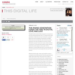 The rising generation leads the way in digital love and lust