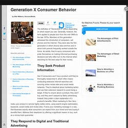 Generation X Consumer Behavior