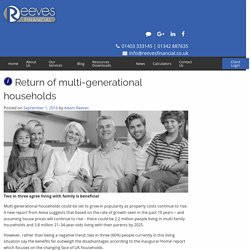 Get an Idea of Benefits of Multi-generational households