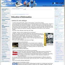 Education à l'information