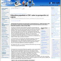 Education populaire et TIC: mise en perspective et enjeux