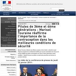 2 - Pilules de 3ème et 4ème générations : Marisol Touraine réaffirme l'importance de la contraception dans les meilleures conditions de sécurité