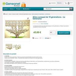 Arbre généalogique compact de 10 générations - Le Générama-