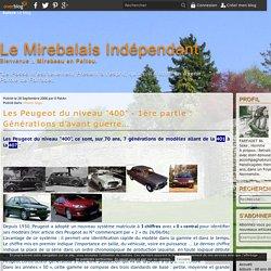 """Les Peugeot du niveau """"400"""" - 1ère partie : Générations d'avant guerre... - Le Mirebalais Indépendant"""