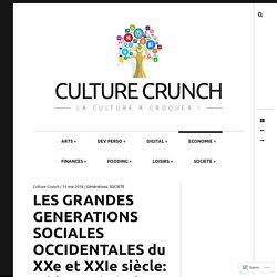LES GRANDES GENERATIONS SOCIALES OCCIDENTALES du XXe et XXIe siècle: tableau général – Culture Crunch